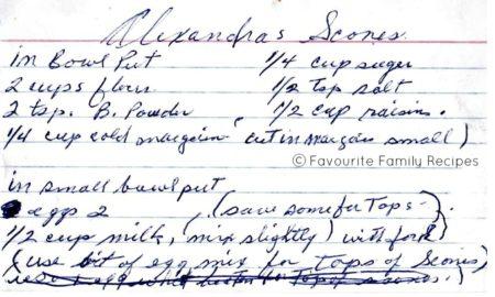 Alexandra's Scones Favourite Family Recipes