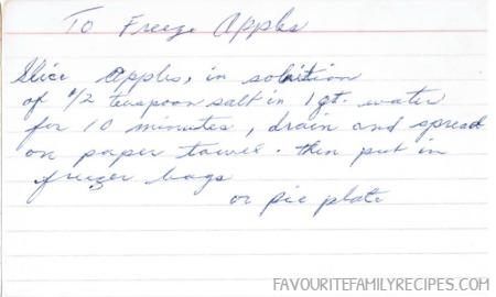 To Freeze Apples - FavouriteFamilyRecipes